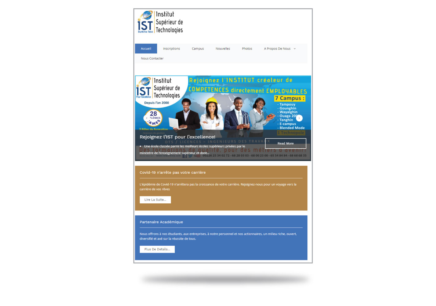 Lancement d'un nouveau site web